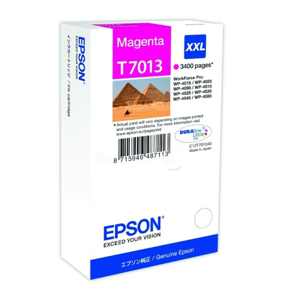 Original Epson C13T70134010 / T7013 Tintenpatrone magenta XXL 34,2 ml 3.400 Seiten