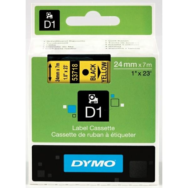 Original Dymo 53718 / S0720980 DirectLabel-Etiketten schwarz auf gelb