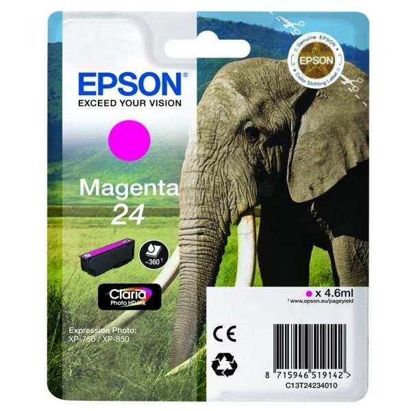 Original Epson C13T24234012 / 24 Tintenpatrone magenta 4,6 ml 360 Seiten
