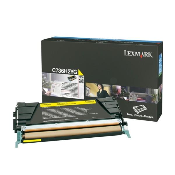 Original Lexmark C736H2YG Toner-Kit gelb 10.000 Seiten