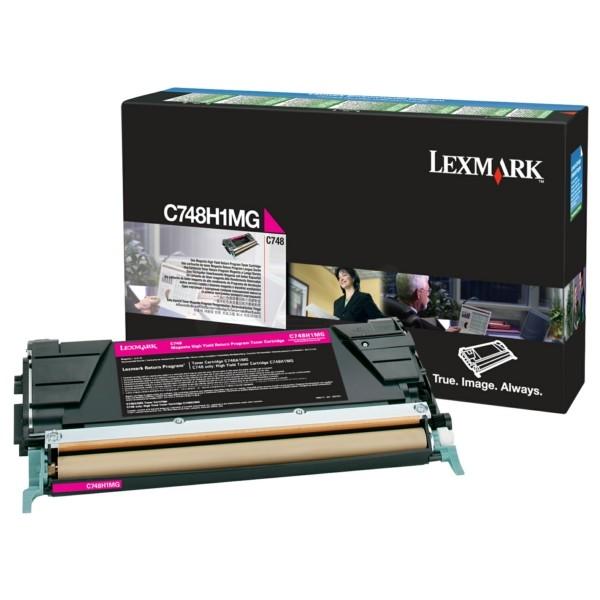 Original Lexmark C748H1MG Tonerkartusche magenta return program 10.000 Seiten