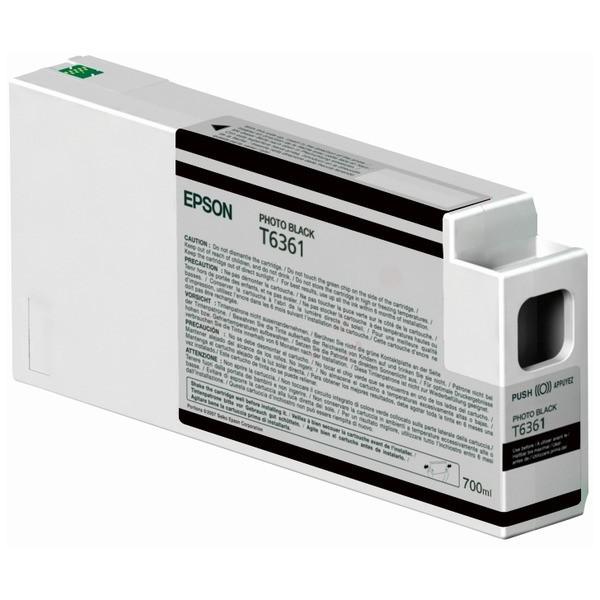Original Epson C13T636100 / T6361 Tintenpatrone schwarz Foto 700 ml