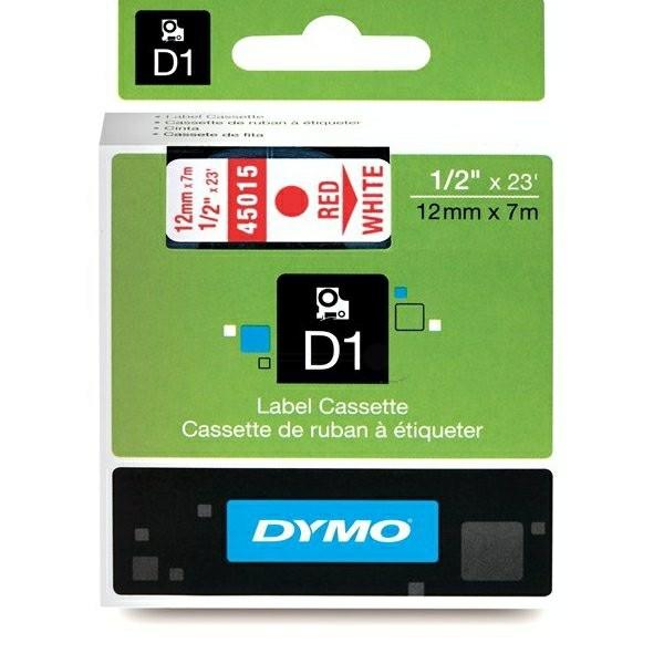 Original Dymo 45015 / S0720550 DirectLabel-Etiketten rot auf weiss