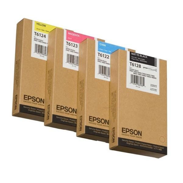 Original Epson C13T612200 / T6122 Tintenpatrone cyan 220 ml