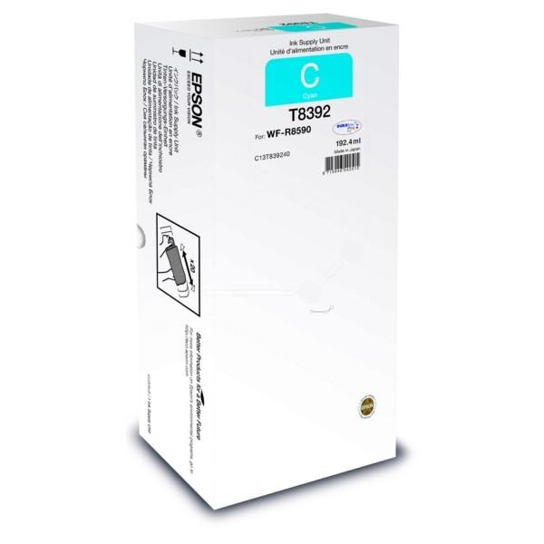 Original Epson C13T839240 / T8392 Tintenpatrone cyan 192,4 ml