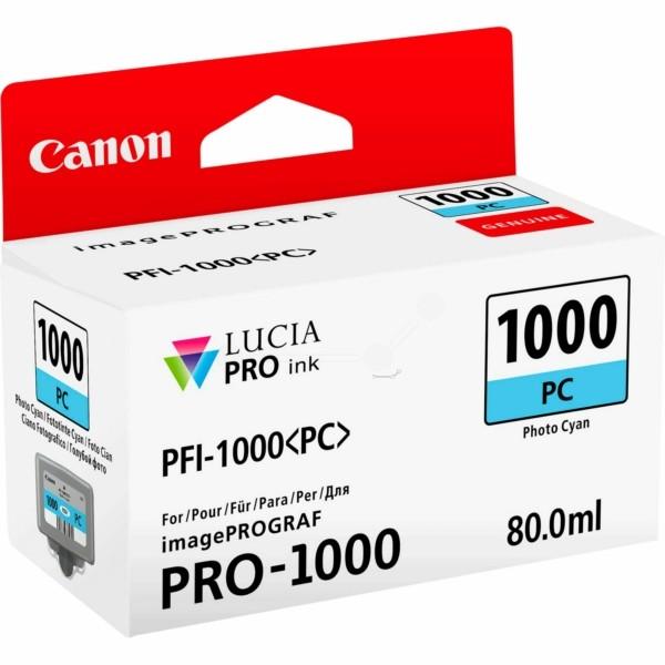 Original Canon 0550C001 / PFI-1000 PC Tintenpatrone cyan hell 80 ml 5.140 Seiten