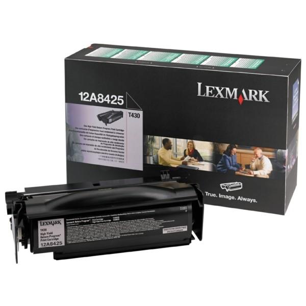 Original Lexmark 12A8425 Tonerkartusche schwarz return program 12.000 Seiten