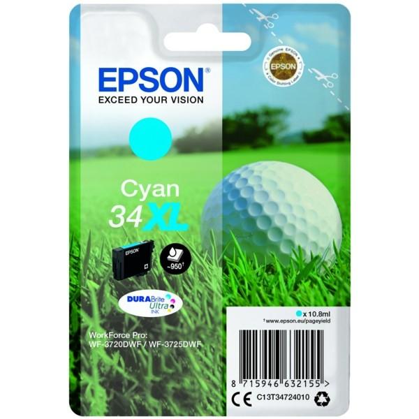 Original Epson C13T34724010 / 34XL Tintenpatrone cyan 10,8 ml 950 Seiten