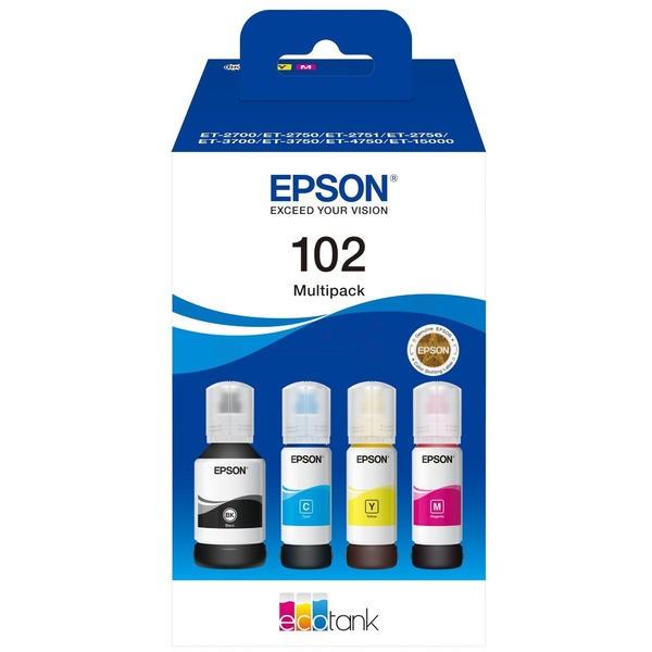 Original Epson C13T03R640 / 102 Tintenpatrone MultiPack Bk,C,M,Y 127ml + 3x70ml
