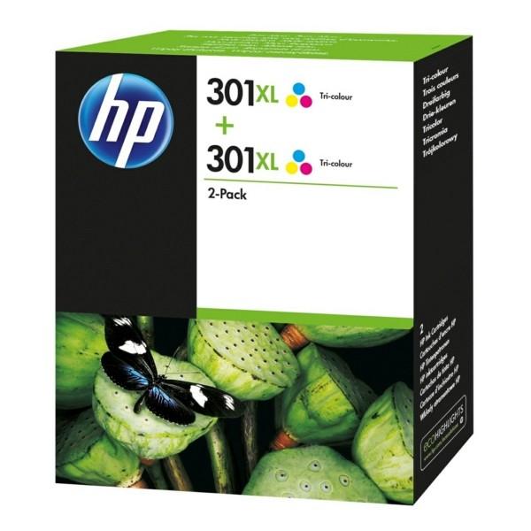 Original HP D8J46AE / 301XL Druckkopfpatrone color High-Capacity Doppelpack 8 ml 330 Seiten