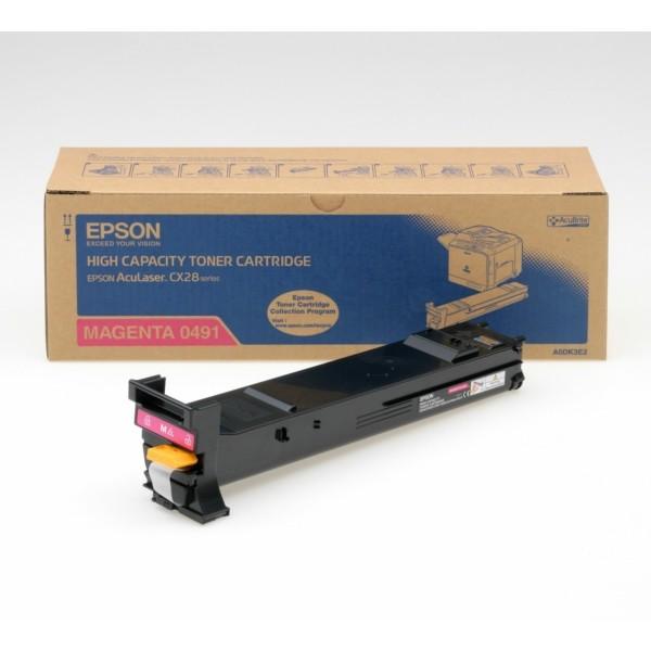 Original Epson C13S050491 / 0491 Toner magenta 8.000 Seiten