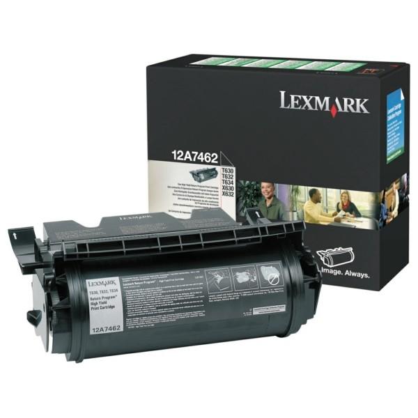 Original Lexmark 12A7462 Tonerkartusche schwarz return program 21.000 Seiten