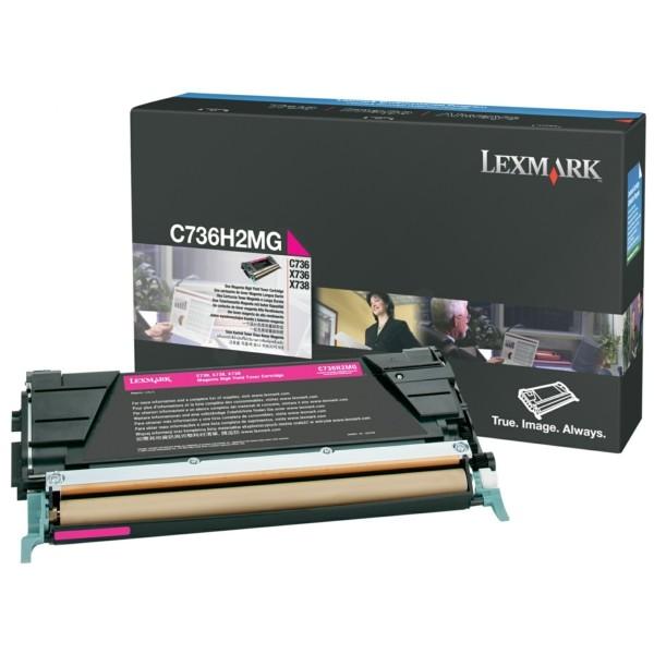 Original Lexmark C736H2MG Toner-Kit magenta 10.000 Seiten