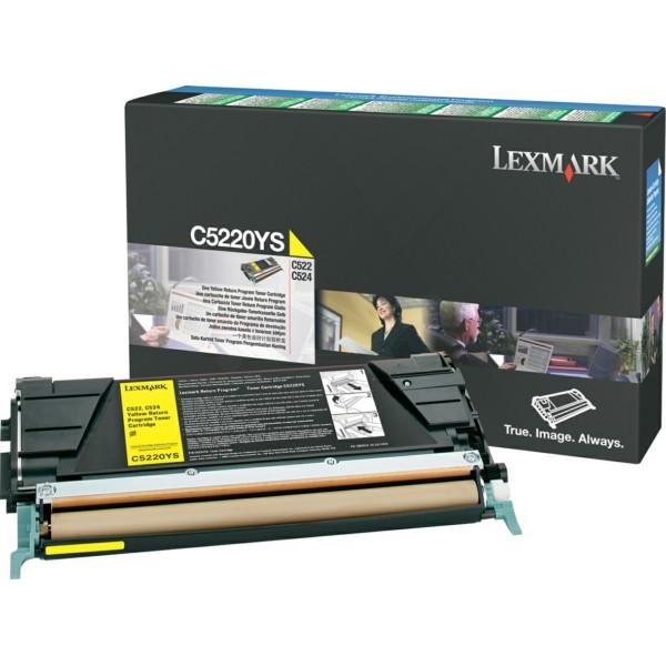 Original Lexmark C5220YS Toner-Kit gelb return program 3.000 Seiten