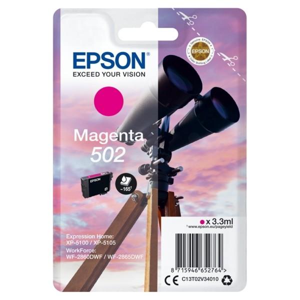 Original Epson C13T02V34010 / 502 Tintenpatrone magenta 3,3 ml 160 Seiten
