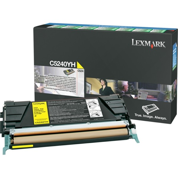 Original Lexmark C5240YH Toner-Kit gelb return program 5.000 Seiten