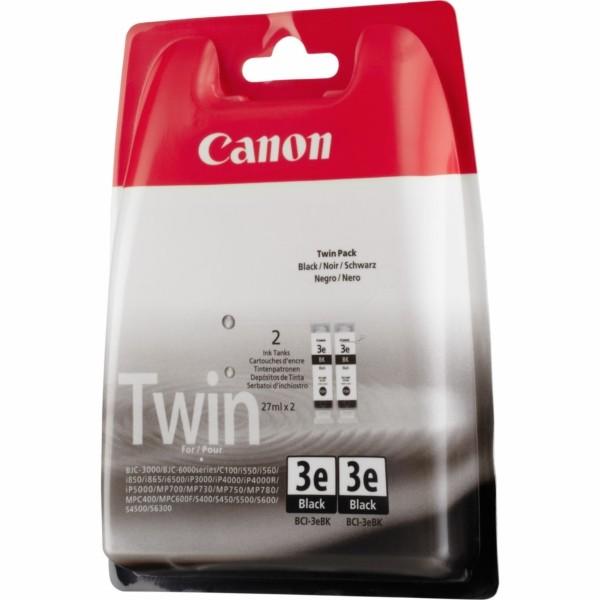 Original Canon 4479A028 / BCI-3 EBK Tintenpatrone schwarz Doppelpack 27 ml 500 Seiten