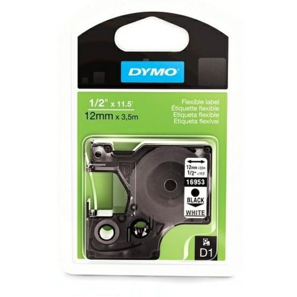 Original Dymo 16957 / S0718040 DirectLabel-Etiketten Nylonband schwarz auf weiss