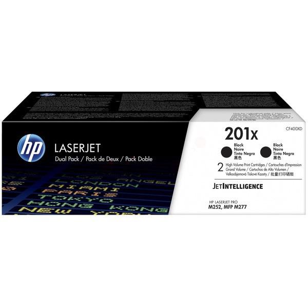 Original HP CF400XD / 201X Tonerkartusche schwarz Doppelpack 2.800 Seiten