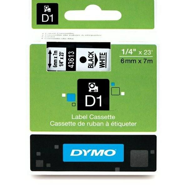 Original Dymo 43613 / S0720780 DirectLabel-Etiketten schwarz auf weiss