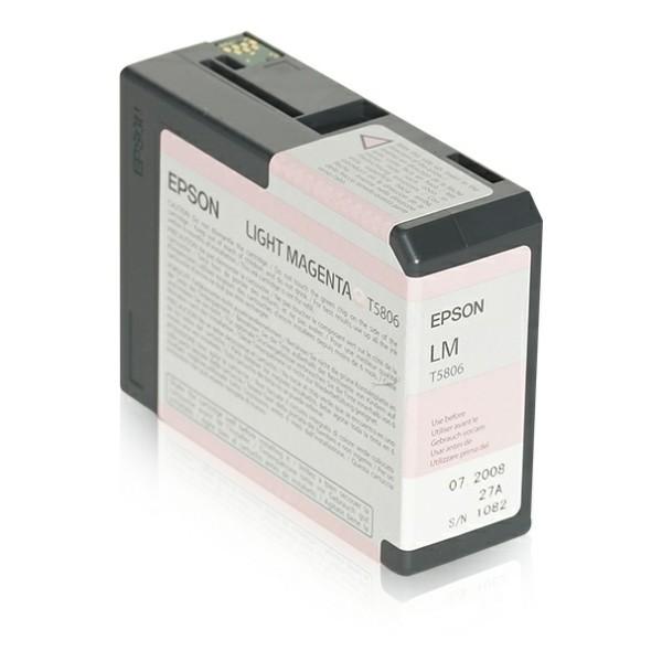 Original Epson C13T580600 / T5806 Tintenpatrone magenta hell 80 ml