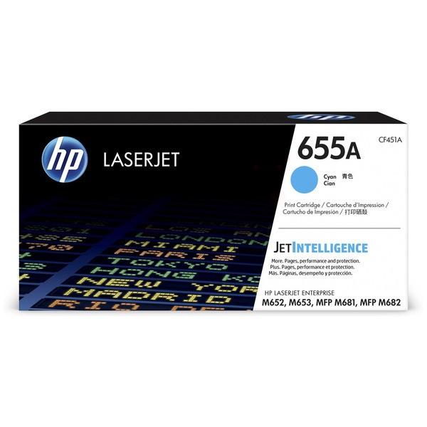 Original HP CF451A / 655A Tonerkartusche cyan 10.500 Seiten