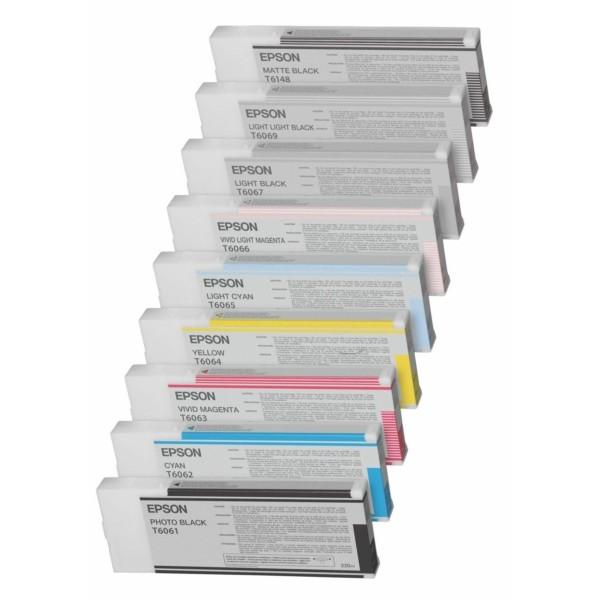 Original Epson C13T606300 / T6063 Tintenpatrone magenta 220 ml