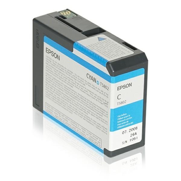 Original Epson C13T580200 / T5802 Tintenpatrone cyan 80 ml