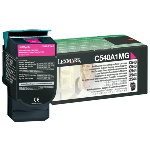 Original Lexmark C540A1MG Toner magenta return program 1.000 Seiten