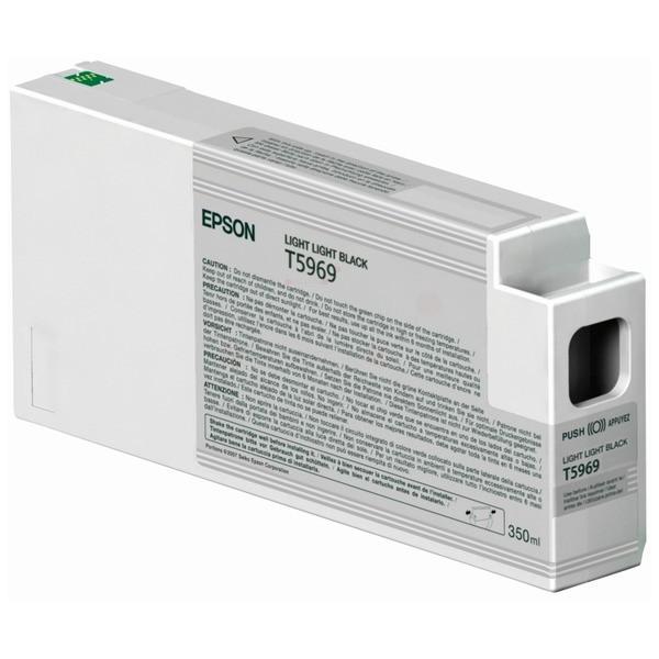 Original Epson C13T596900 / T5969 Tintenpatrone schwarz hell hell 350 ml