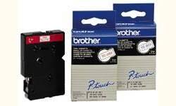Original Brother TZE-231S Schriftbandkassette, Schwarz auf Weiß, 12mm breit, 4m lang