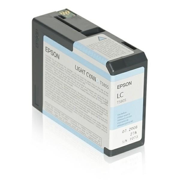 Original Epson C13T580500 / T5805 Tintenpatrone cyan hell 80 ml