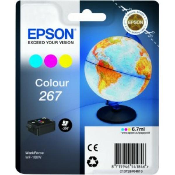 Original Epson C13T26704010 / 267 Tintenpatrone color 6,7 ml 200 Seiten