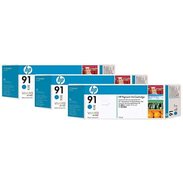 Original HP C9483A / 91 Tintenpatrone cyan 775 ml