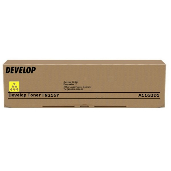 Original Develop A11G2D1 / TN-216 Y Toner gelb 26.000 Seiten