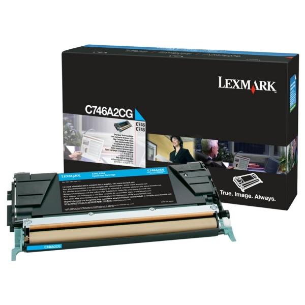 Original Lexmark C746A2CG Tonerkartusche cyan 7.000 Seiten