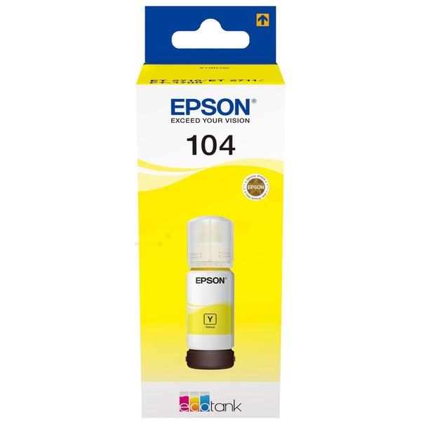 Original Epson C13T00P440 / 104 Tintenpatrone gelb 70 ml 7.500 Seiten