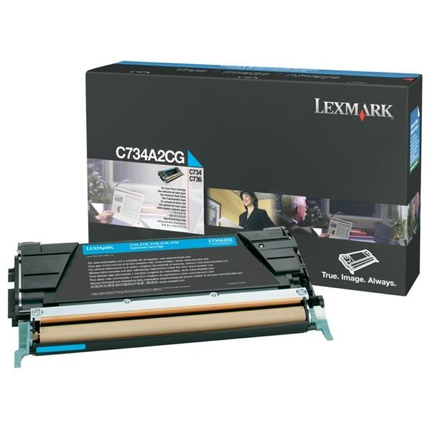 Original Lexmark C734A2CG Toner-Kit cyan 6.000 Seiten