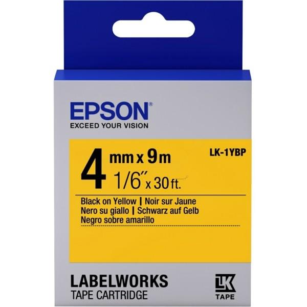 Original Epson C53S651002 / LK-1YBP Farbband schwarz auf gelb
