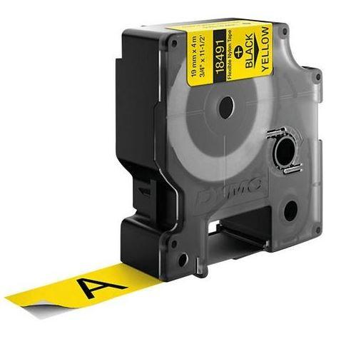 Original Dymo 18491 / S0718090 Farbband Nylon flexible schwarz auf gelb