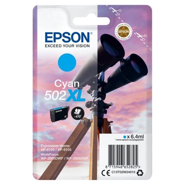 Original Epson C13T02W24010 / 502XL Tintenpatrone cyan 6,4 ml 470 Seiten