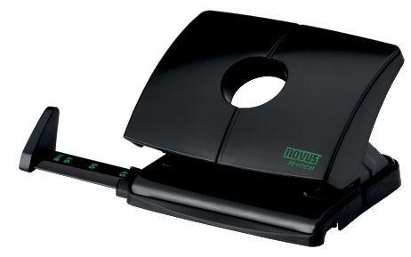 Locher NOVUS B 216 re+new Tischlocher. Das Gerät hat ein Kunststoffoberteil das zu 100% aus nachhaltigem Rezyklat besteht. Der Recyklatanteil am gesamten Locher liegt bei 64 % Recyling-Kunststoff. Werkstoff: Metall / Kunststoff aus nachhaltigem Rezyklat (