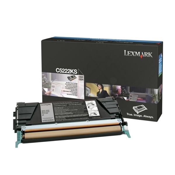 Original Lexmark C5222KS Toner-Kit schwarz 4.000 Seiten
