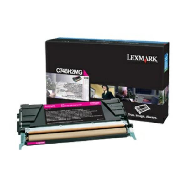 Original Lexmark C748H2MG Tonerkartusche magenta 10.000 Seiten