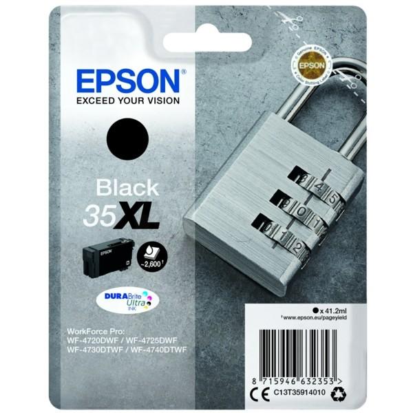 Original Epson C13T35914010 / 35XL Tintenpatrone schwarz 41,2 ml 2.600 Seiten