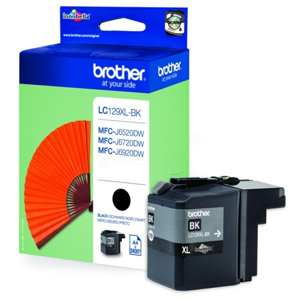 Original Brother LC129XLBK Tintenpatrone schwarz 50 ml 2.400 Seiten