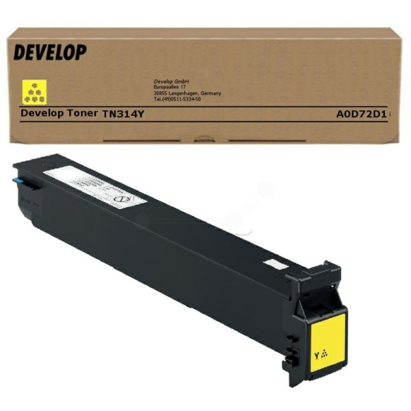 Original Develop A0D72D1 / TN-314 Y Toner gelb 17.000 Seiten