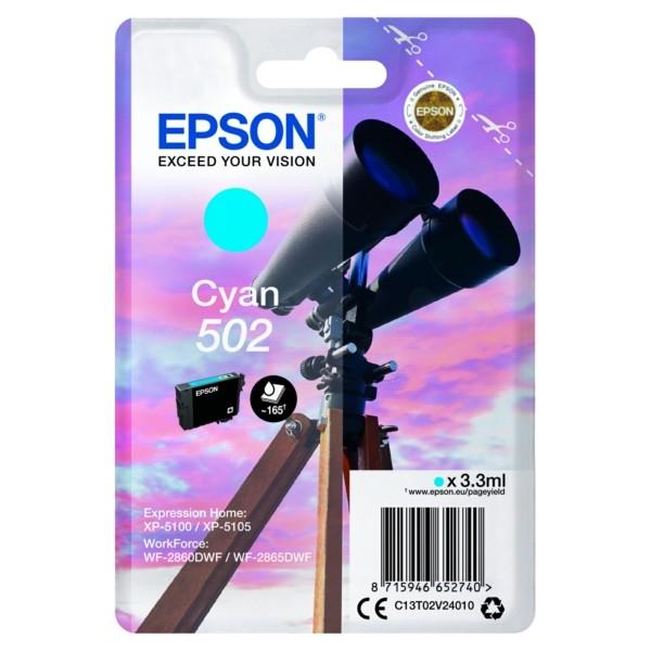 Original Epson C13T02V24010 / 502 Tintenpatrone cyan 3,3 ml 160 Seiten
