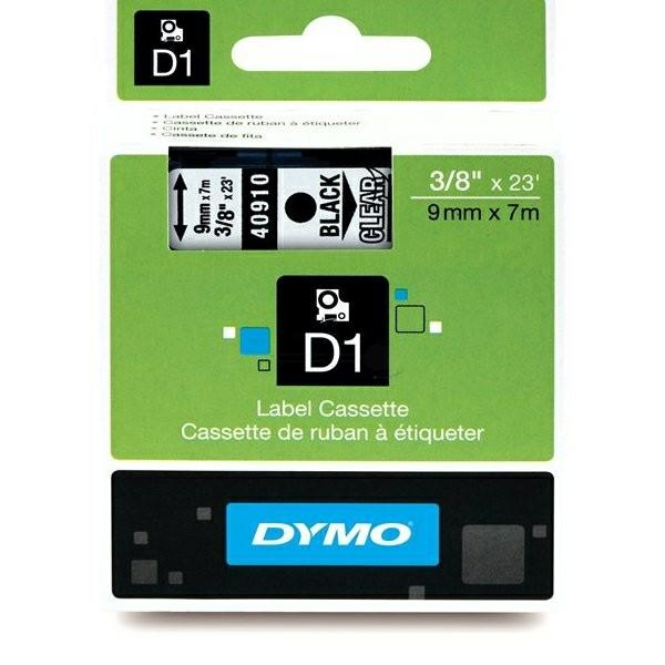 Original Dymo 40910 / S0720670 DirectLabel-Etiketten schwarz auf Transparent