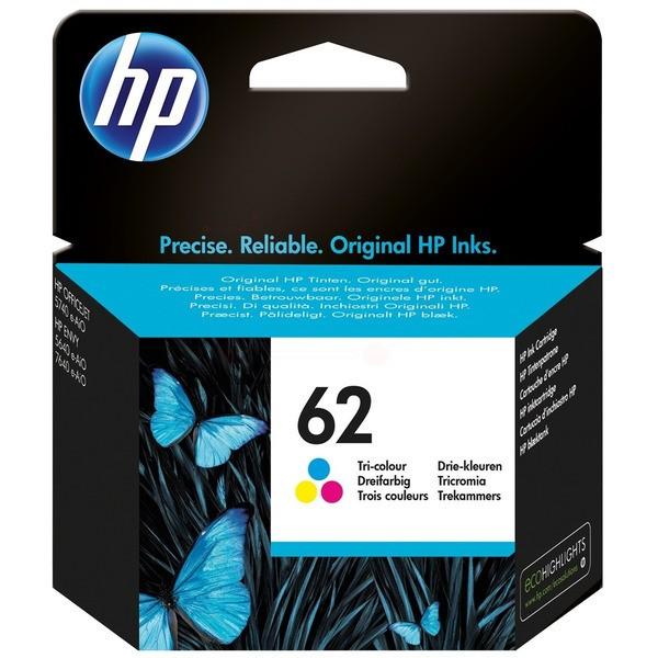 Original HP C2P06AE / 62 Druckkopfpatrone color 165 Seiten